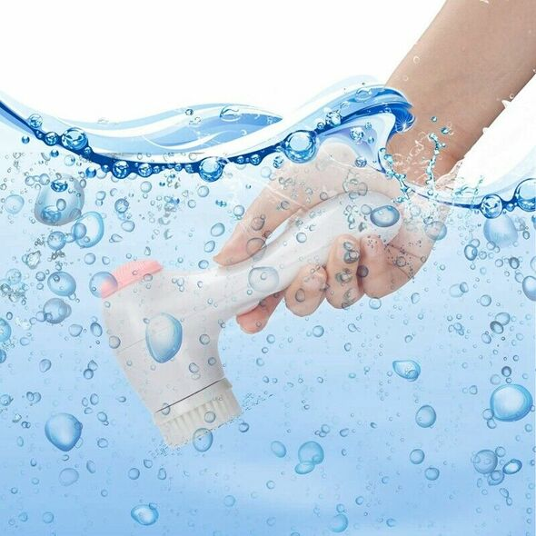 Facial Cleansing Brush Ipx7 Waterproof Rechargeable Face Spin Brush with 3