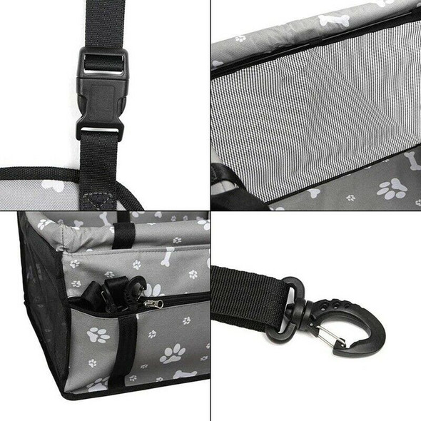 Dog Car Seat Upgrade Deluxe Portable Pet Dog Booster Car Seat with Clip-On