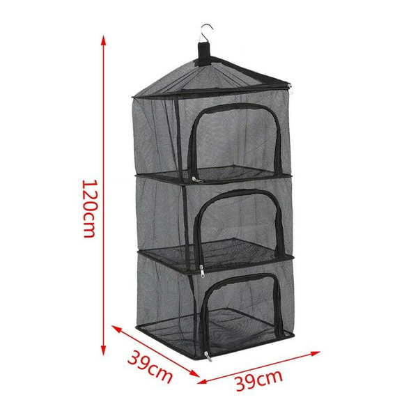 Dry Net Insect Food Screen,4 Layer Outdoor Camping Camping Storage Bag Camp