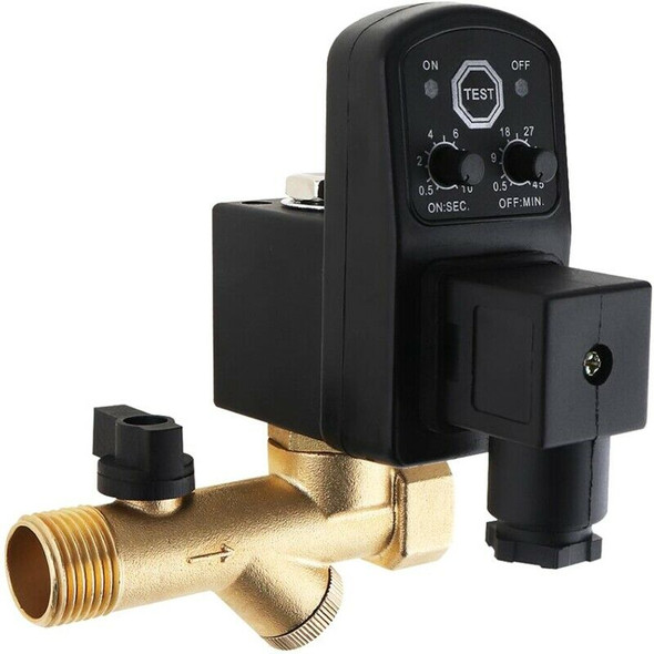 1/4 Inch Ac220V 1.6Mpa Electronic Drain Valve Timed Air Compressor Gas