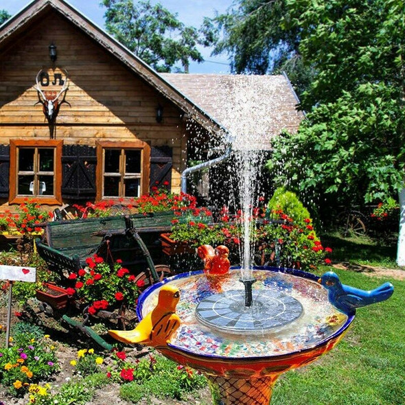 Solar Fountain with Battery Backup 2.5W Bird Bath Fountain Free Standing So