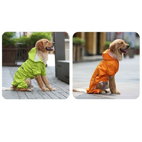 Large Dog Raincoat Hooded Golden Retriever Clothes Medium Big Dog Rain Coat