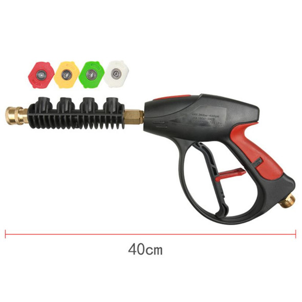 High Pressure Cleaning Gun, 3000 PSI, with 4 Color Pressure Washer Nozzle