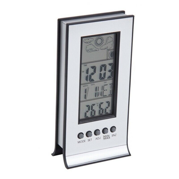 2X(Wireless Weather Thermometer Station Daily Clock Snooze Forecast Calenda