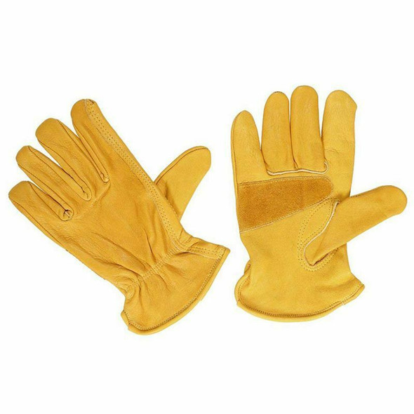 1 Pair Leather Gloves For Men, Work Gloves For Ladies, Assembly Gloves Safe