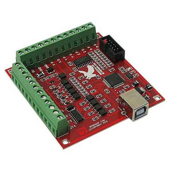 Cnc Usb 4 Axis Mach3 100 Khz Usb Motion Control Card Breakout Board 12-24V