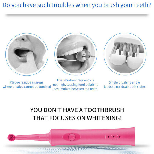 Electric Toothbrush Ultrasonic Rechargeable Rotating Toothbrush Oral Tooth