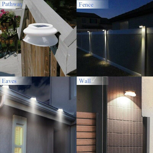 Outdoor Solar Gutter Lights(Upgraded Version)Solar Fence Post Lights Wall M