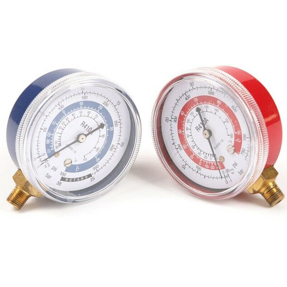 1Pair Air Conditioner R410A R134A R22 Refrigerant Low & High Pressure Gauge