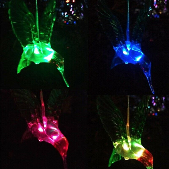 1pcs Solar Color Changing LED Bee Wind Chimes Light Lamp Home Room Garden D