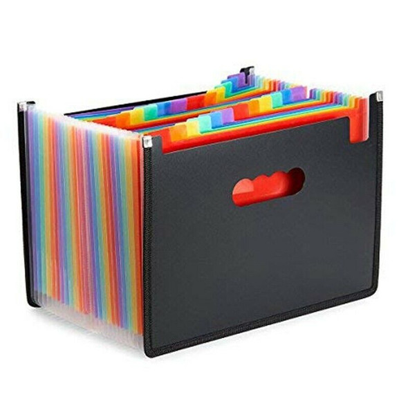 File Folder Organizer 12 24 Pockets Document Organizer Wrap and File Guides
