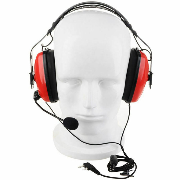 2 Pin Noise Canceling Headset Headphone With Ptt Mic For Walkie Talkie Kenw