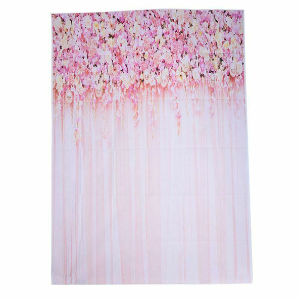 5x7ft Pink Flower Backdrop Photography Background Weeding Background