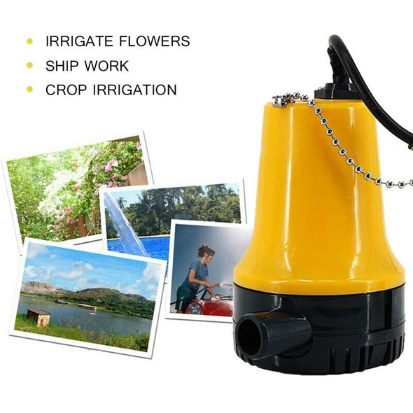Bilge Pump, 12V Micro- Dc Immersible Submersible Agricultural Irrigation Po