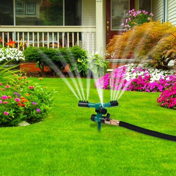 3 Pack Lawn Sprinklers Plastic 360 Rotating Automatic Garden Water Sprinkle