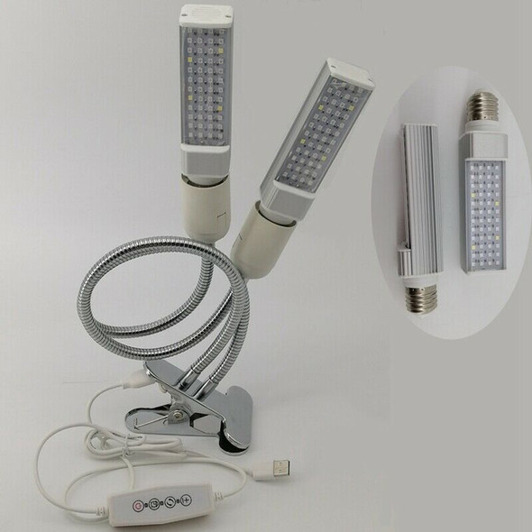 96LED Plant Growth Lamp 48W USB Double-Headed Plant Light for Indoor Greenh