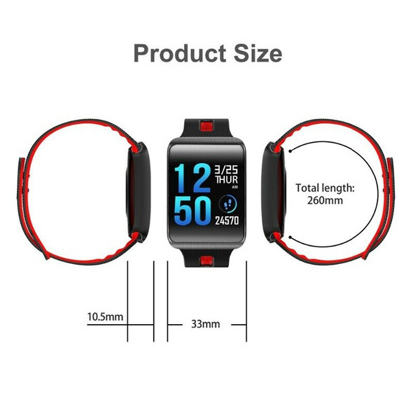 GT98 Smart Watch Bluetooth 4.0 Blood Pressure Heart Rate Bracelet Waterproo