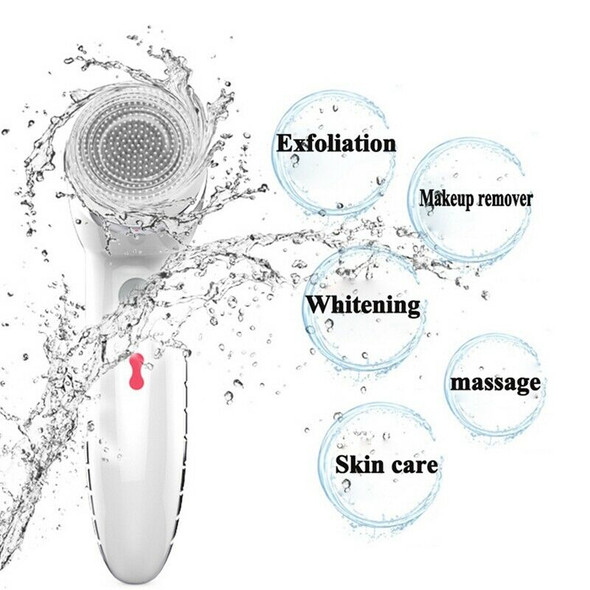 Facial Cleansing Brush Sonic Vibration Mini Face Cleaner ABS Deep Pore Clea