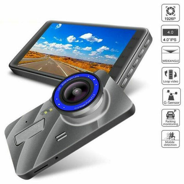 New 4 inch Car DVR Camera Full HD 1080P Dual Lens Video Recorder Parking Mo
