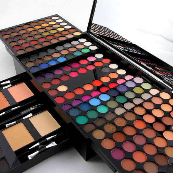Miss Rose 180 Colors Cosmetic Powder Eyeshadow Palette Matte Nude Shimmer E