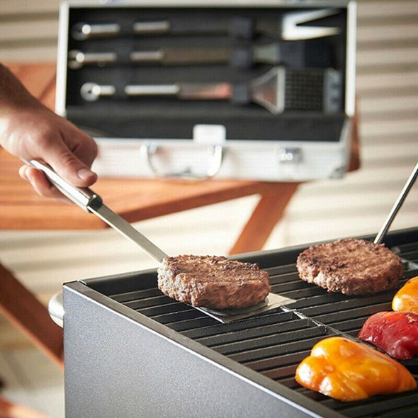 5Pcs/Set Stainless Steel Barbecue Grilling Tools Set Bbq Accessories Grill