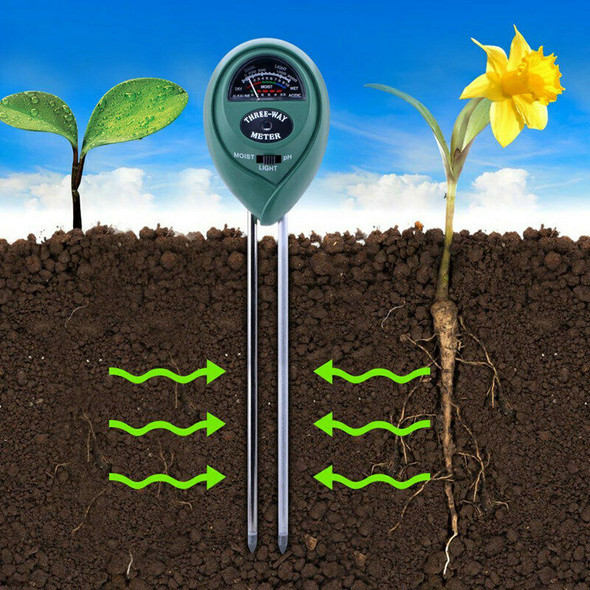 3-in-1 Soil Moisture Meter, Light and PH acidity Tester Plant Tester Indoor
