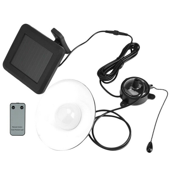 Solar Powered Garden Pendant Light Remote Waterproof Led Hanging Lamp