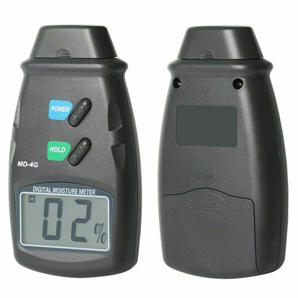Damp Digital Meter and Carry Case - 2 Pin Moisture Tester for Wood, Plaster