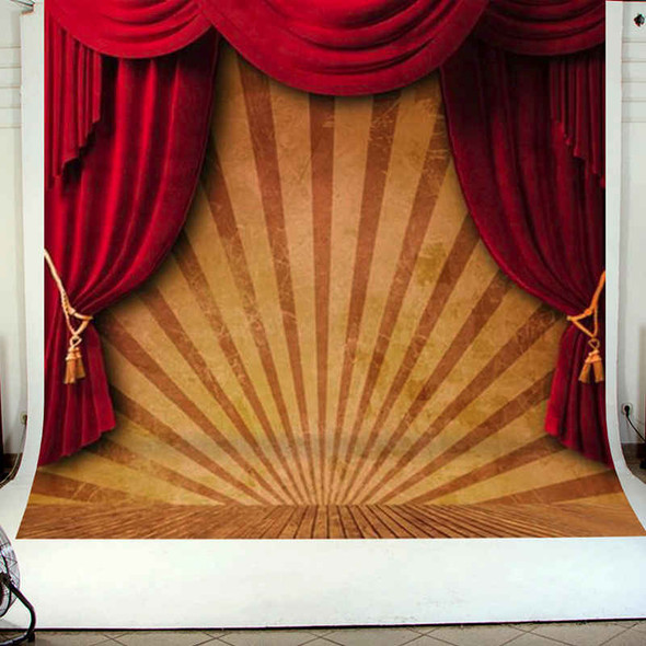 10x10FT Circus Red Curtain Stage Photography Backdrop Background Studio Vin