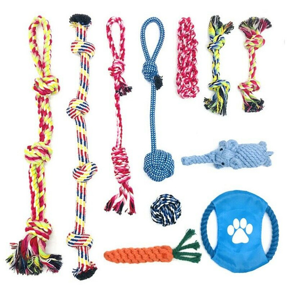 Dog Puppy Toys 11 Pack, Dog Rope Toys Puppy Chew Toys For Playing Time Pupp