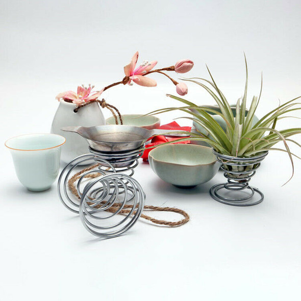 20 Pack Air Plant Stand Container Tillandsia Holder, iron Wire Stand Plant