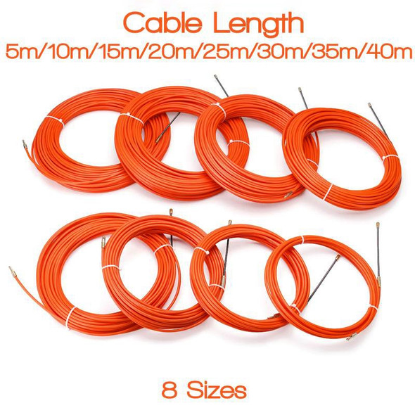 4Mm 25 Meter Orange Guide Device Nylon Electric Cable Push Pullers Duct Sna