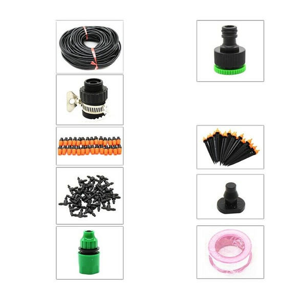 25M Diy Micro-Drip Irrigation Watering Kits System With Adjustable Drippers