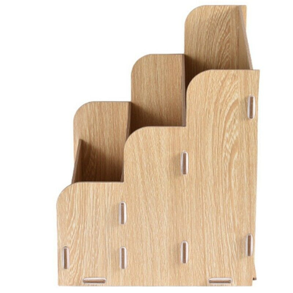 Diy Desktop A4 Wooden File Rack Multifunctional Creative Finishing Office S