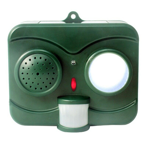 Solar Energy Acousto-Optic Bird Repeller Repellent Deterrent Pigeon Scarer