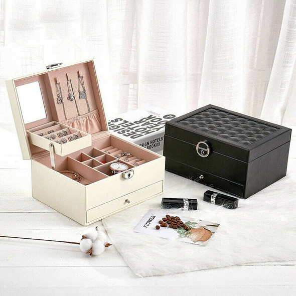 Fashion Design Leather Jewelry Box Jewelry Case Jewelry Package Storage Lar