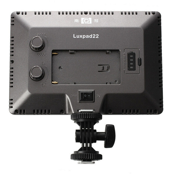 Nanguang Luxpad22 Pro Ultra Thin 112-LED 11W Video Light Pad for Nikon DSLR