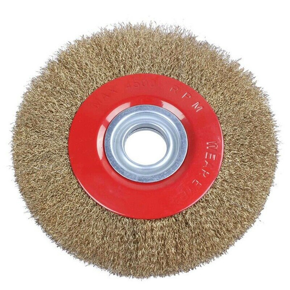 Wire Brush Wheel for Bench Grinder Polish + Reducers Adaptor Rings,8inch 20