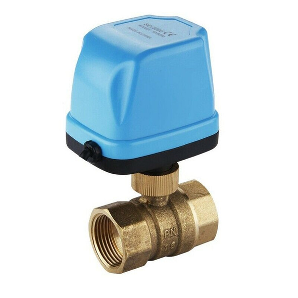 1pcs 2-Way Zone Valve Two-way Valve Motor Ball Valve Electric Valve Ball Va