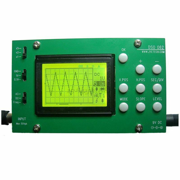 DSO062 Digital Oscilloscope 1 MHz Analog Bandwidth 20 MSa/s DIY Kit for Ard