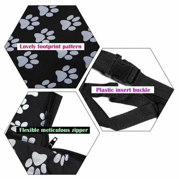 Pet carriers Oxford Fabric Paw pattern Car Pet Seat Covers Waterproof Back