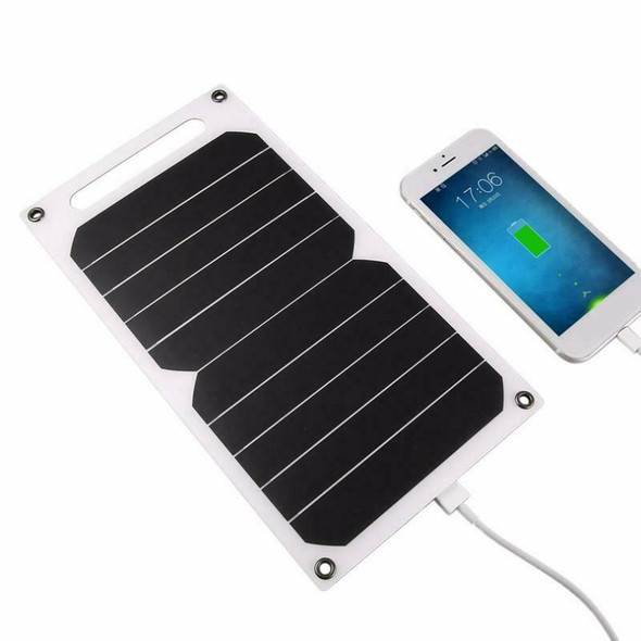 5V 5W Portable Solar Charging Panel Lightweight Solar Power USB Charger for