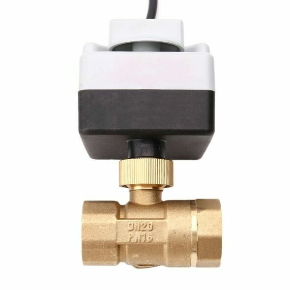 Ac220V Dn25 3-Way Electric Motorized Ball Valve Three-Wire Two Control For