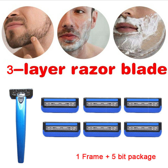 1 Frame 5 Razor Blades Shaving Facial Care Men Shaving Blades Men Women Shave OZ
