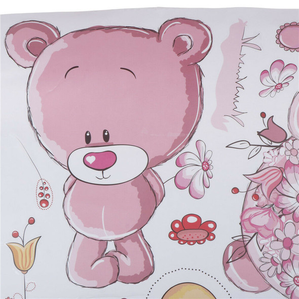 Couple bear wall stickers children room decor baby shower adhesive for kids Z