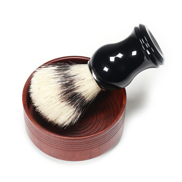 1XMen Shaving Bear Brush Best Badger Hair Shave Wood Handle Razor Barber Tool ME