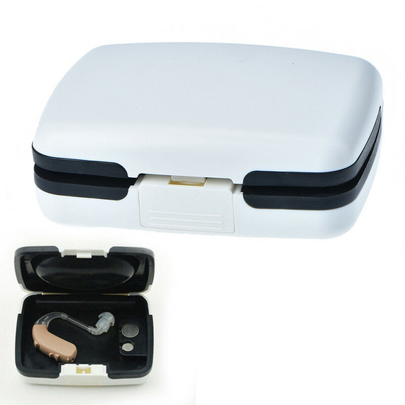 portable bte hearing aid aids storage case carrying box audiophone holder  OZ