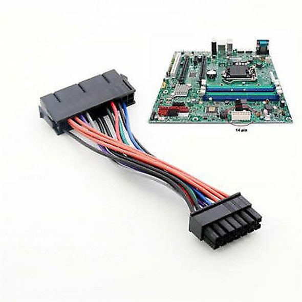 24 Pin to 14 Pin PSU Main Power Supply ATX Adapter Cable for Lenovo IBM Delux