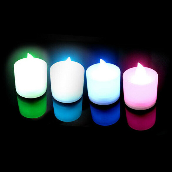 7 Color LED Changing Electronic Flameless Candle Lamp(random light color) #gib