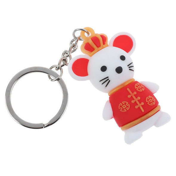 Lucky mouse keychain Keyring Fashion Pendant keychain New Year Gifts for Kid@